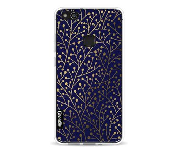 Berry Branches Navy Gold - Huawei P10 Lite