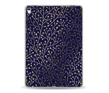Berry Branches Navy Gold - Apple iPad Pro 9.7