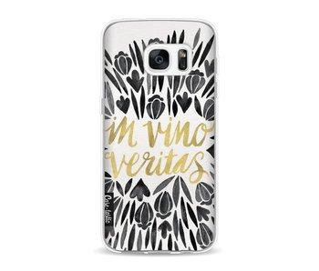 Black Vino Veritas Artprint - Samsung Galaxy S7