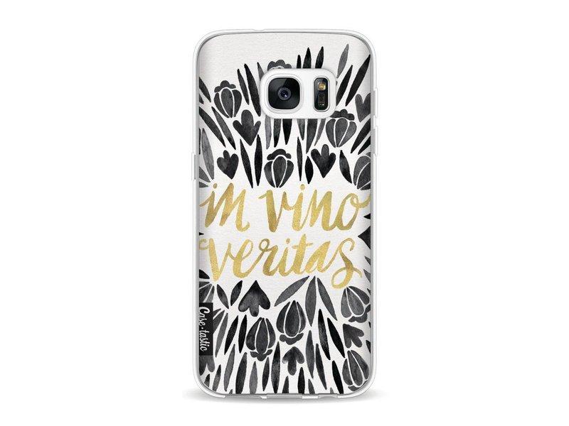 Casetastic Softcover Samsung Galaxy S7 - Black Vino Veritas Artprint