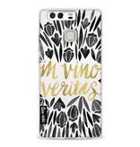 Casetastic Softcover Huawei P9  - Black Vino Veritas Artprint