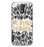 Casetastic Softcover Motorola Moto G4 / G4 Plus - Black Vino Veritas Artprint