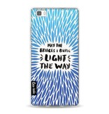 Casetastic Softcover Huawei P8 Lite - Blue Bridges Burn Burst Artprint