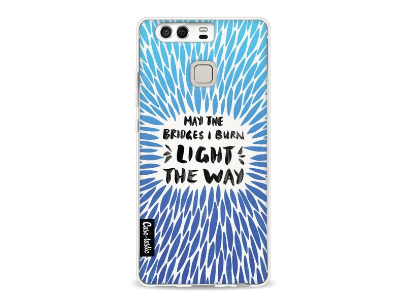 Casetastic Softcover Huawei P9  - Blue Bridges Burn Burst Artprint