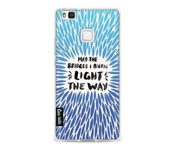 Blue Bridges Burn Burst Artprint - Huawei P9 Lite