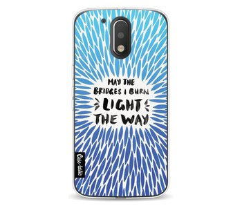 Blue Bridges Burn Burst Artprint - Motorola Moto G4 / G4 Plus