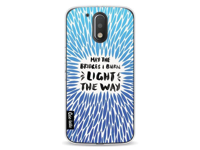 Casetastic Softcover Motorola Moto G4 / G4 Plus - Blue Bridges Burn Burst Artprint