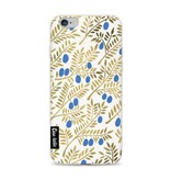 Casetastic Softcover Apple iPhone 6 / 6s - Blue Gold Olive Branches Artprint