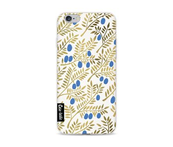 Blue Gold Olive Branches Artprint - Apple iPhone 6 / 6s