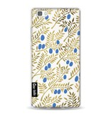 Casetastic Softcover Huawei P8 Lite - Blue Gold Olive Branches Artprint
