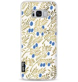 Casetastic Softcover Samsung Galaxy S8 Plus - Blue Gold Olive Branches Artprint