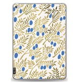 Casetastic Softcover Apple iPad Air 2 - Blue Gold Olive Branches Artprint