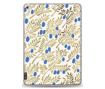 Blue Gold Olive Branches Artprint - Apple iPad Air 2