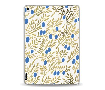 Blue Gold Olive Branches Artprint - Apple iPad Pro 9.7