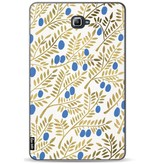 Casetastic Softcover Samsung Galaxy Tab A 10.1 (2016) - Blue Gold Olive Branches Artprint