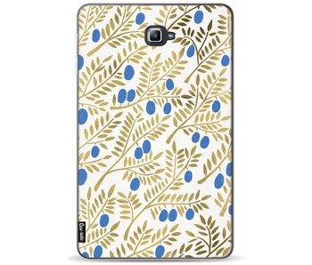 Blue Gold Olive Branches Artprint - Samsung Galaxy Tab A 10.1 (2016)