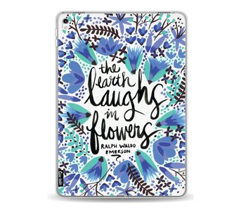 Laughs Flowers BlueBlack - Apple iPad Pro 9.7