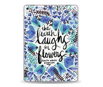 Laughs Flowers BlueBlack - Apple iPad Pro 9.7