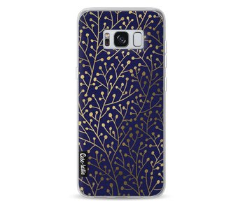 Berry Branches Navy Gold - Samsung Galaxy S8