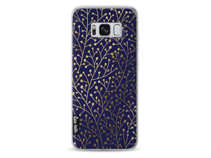 Casetastic Softcover Samsung Galaxy S8 - Berry Branches Navy Gold