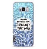 Casetastic Softcover Samsung Galaxy S8 - Blue Bridges Burn Burst Artprint