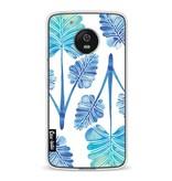 Casetastic Softcover Motorola Moto G5 - Blue Ombre Palm Leaf Trifecta Pattern