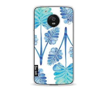 Blue Ombre Palm Leaf Trifecta Pattern - Motorola Moto G5