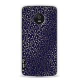 Casetastic Softcover Motorola Moto G5 - Berry Branches Navy Gold