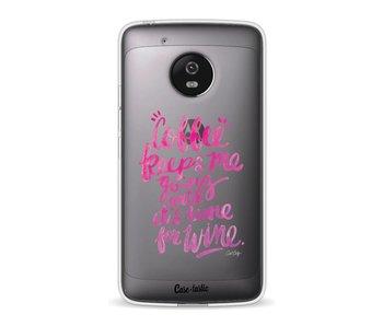 Coffee Wine Pink - Motorola Moto G5