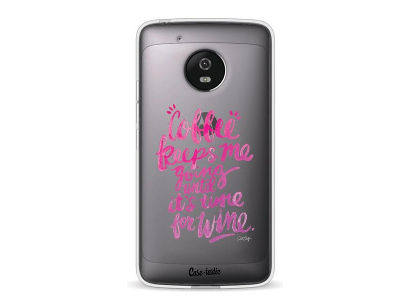 Casetastic Softcover Motorola Moto G5 - Coffee Wine Pink