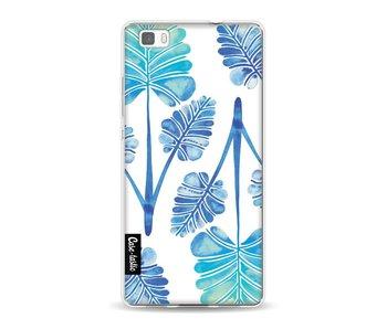 Blue Ombre Palm Leaf Trifecta Pattern - Huawei P8 Lite