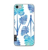 Casetastic Softcover Apple iPhone 7 - Blue Ombre Palm Leaf Trifecta Pattern