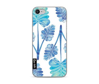Blue Ombre Palm Leaf Trifecta Pattern - Apple iPhone 7