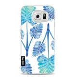 Casetastic Softcover Samsung Galaxy S6 - Blue Ombre Palm Leaf Trifecta Pattern