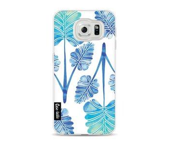 Blue Ombre Palm Leaf Trifecta Pattern - Samsung Galaxy S6
