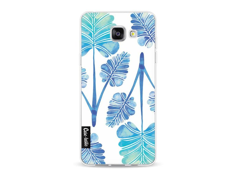 Casetastic Softcover Samsung Galaxy A5 (2016) - Blue Ombre Palm Leaf Trifecta Pattern