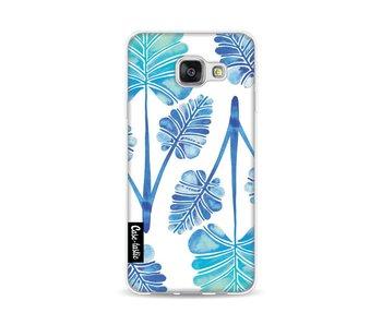 Blue Ombre Palm Leaf Trifecta Pattern - Samsung Galaxy A3 (2016)