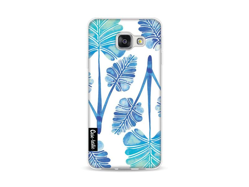 Casetastic Softcover Samsung Galaxy A3 (2016) - Blue Ombre Palm Leaf Trifecta Pattern