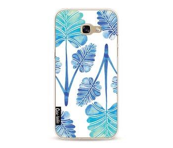 Blue Ombre Palm Leaf Trifecta Pattern - Samsung Galaxy A5 (2017)