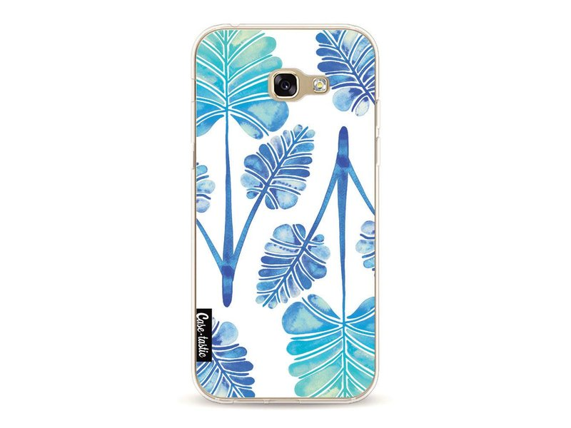 Casetastic Softcover Samsung Galaxy A5 (2017) - Blue Ombre Palm Leaf Trifecta Pattern
