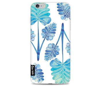 Blue Ombre Palm Leaf Trifecta Pattern - Apple iPhone 6 Plus / 6s Plus