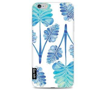 Blue Ombre Palm Leaf Trifecta Pattern - Apple iPhone 6 Plus / 6s Plus