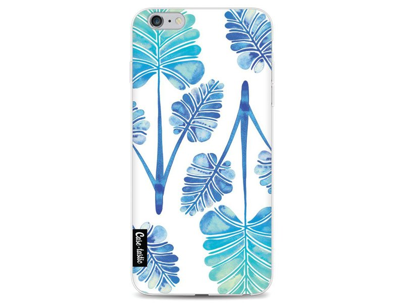 Casetastic Softcover Apple iPhone 6 Plus / 6s Plus - Blue Ombre Palm Leaf Trifecta Pattern