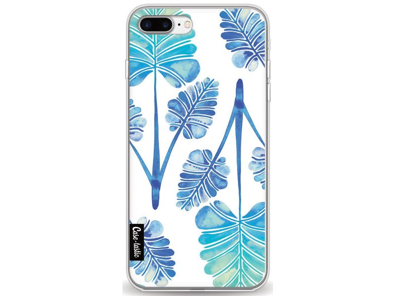 Casetastic Softcover Apple iPhone 7 Plus - Blue Ombre Palm Leaf Trifecta Pattern