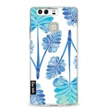 Casetastic Softcover Huawei P9  - Blue Ombre Palm Leaf Trifecta Pattern