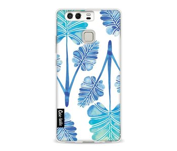 Blue Ombre Palm Leaf Trifecta Pattern - Huawei P9