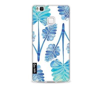 Blue Ombre Palm Leaf Trifecta Pattern - Huawei P9 Lite