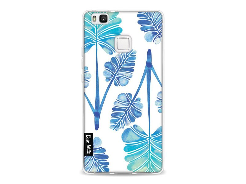 Casetastic Softcover Huawei P9 Lite - Blue Ombre Palm Leaf Trifecta Pattern