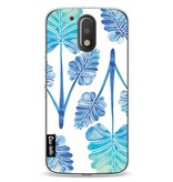 Casetastic Softcover Motorola Moto G4 / G4 Plus - Blue Ombre Palm Leaf Trifecta Pattern