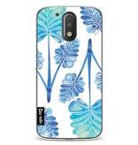 Casetastic Softcover Motorola Moto G4 / G4 Plus - Blue Ombre Palm Leaf Trifecta Pattern